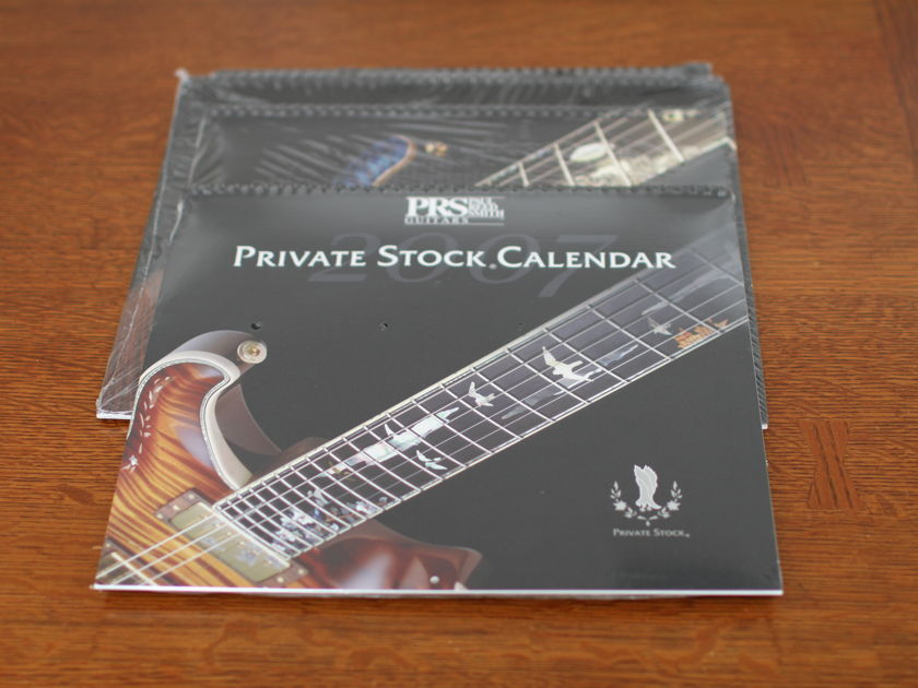 PRS Paul Reed Smith Calendar collection sealed 2005/7/8/9