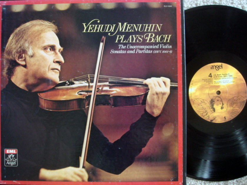 EMI Angel / MENUHIN, - Bach Uncompanied Violin Sonatas & Partitas, MINT, 3LP Box Set!