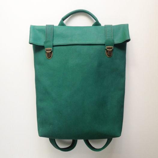 Кожаный рюкзак Pine Green