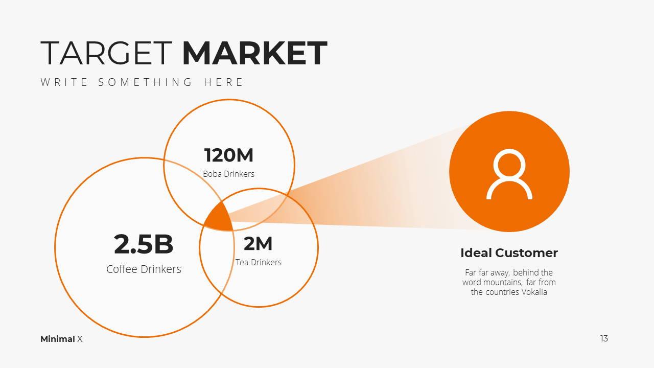 Minimal X Marketing Plan Presentation Template Target Market