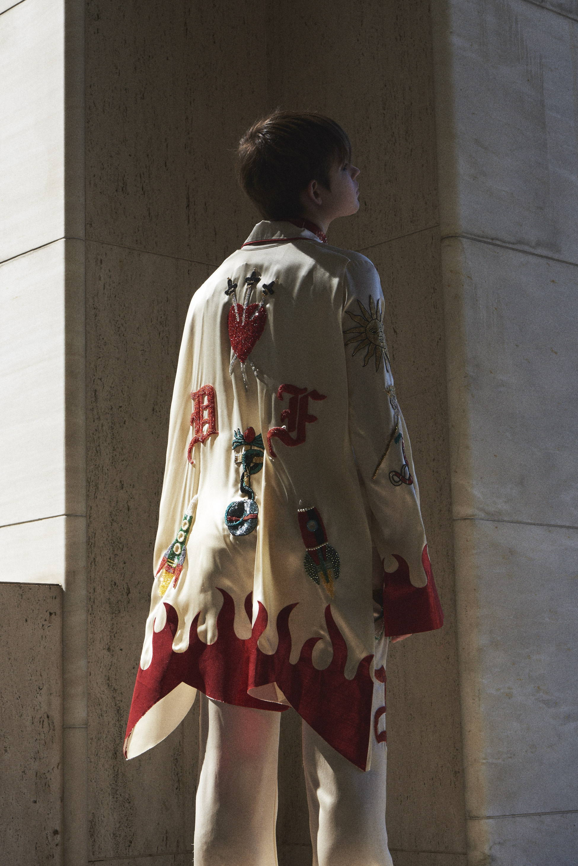 Dilara Findikoglu embroidered masonic blazer fw17- HLorenzo