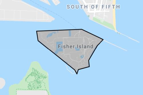 skyview of Fisher Island