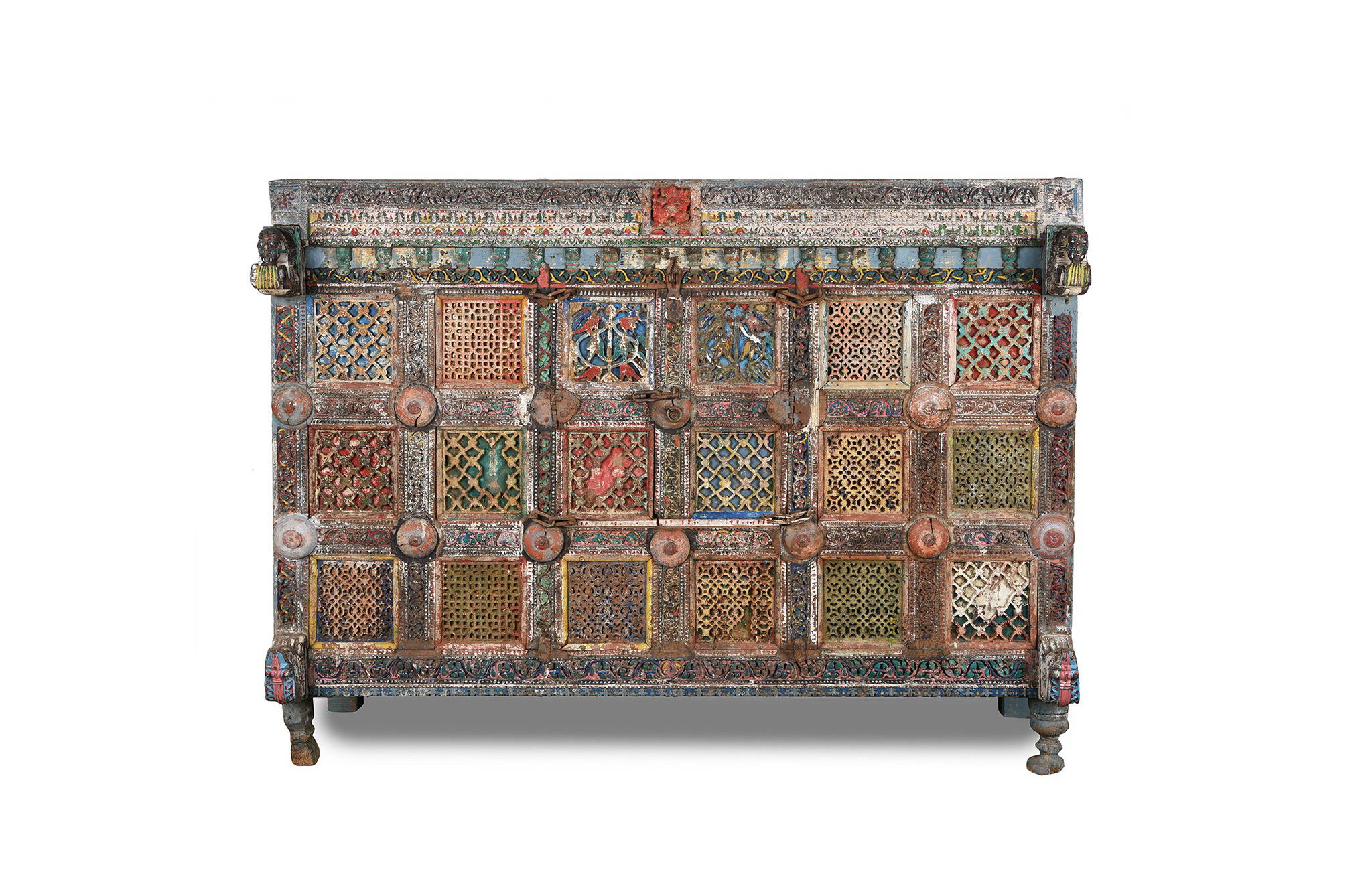 "Painted Indian  Roll over image to zoom in Trade & Wholesale Prop Hire Painted Indian ""Damchiya"" Dowry Chest From Kutch - 19thC 