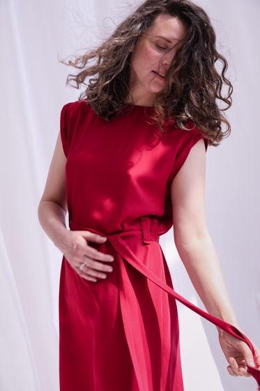 Красное платье с клином