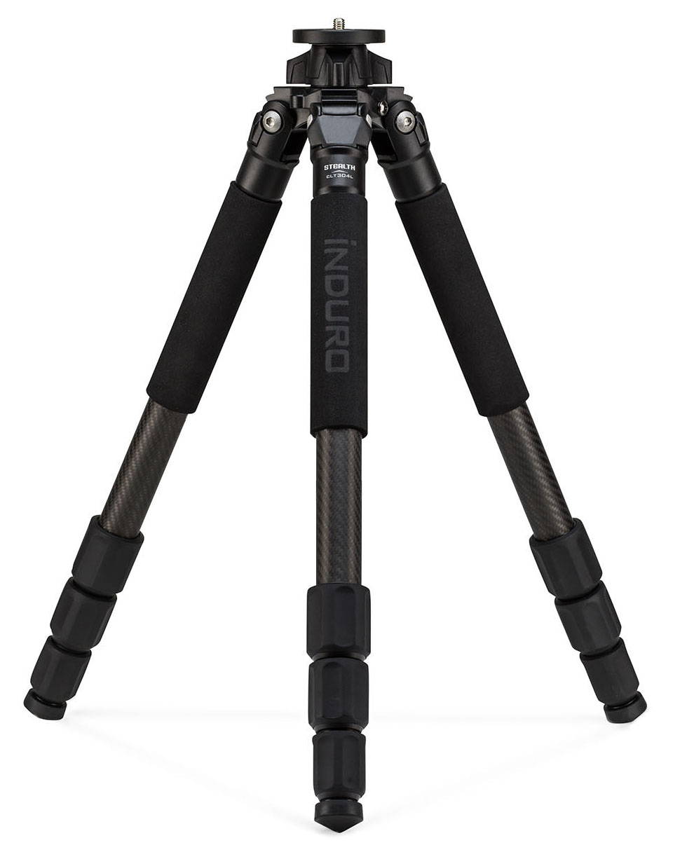 induro clt 304 carbon fiber tripod standing on bottom