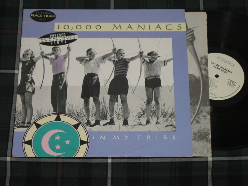 "10,000 Maniacs ""In My Tribe""  - Elektra/Asylum 60738-1 White Label Promo w/Embossed promo stamp"