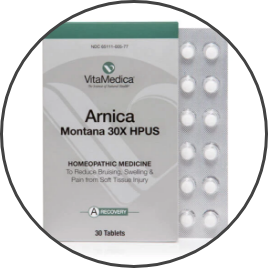 Package of arnica tablets