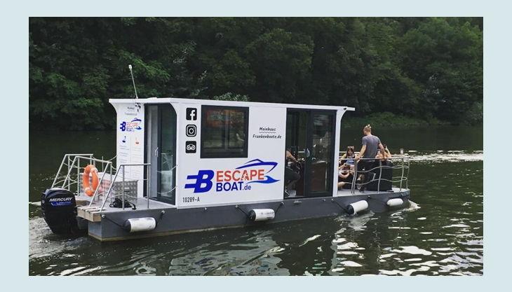 bg escape boat außenansicht fahrt wasser