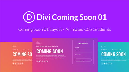 Divi Coming Soon 01 Layout