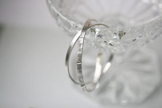 Минималистичный браслет, серебро