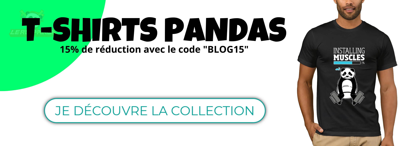collection de t shirt panda