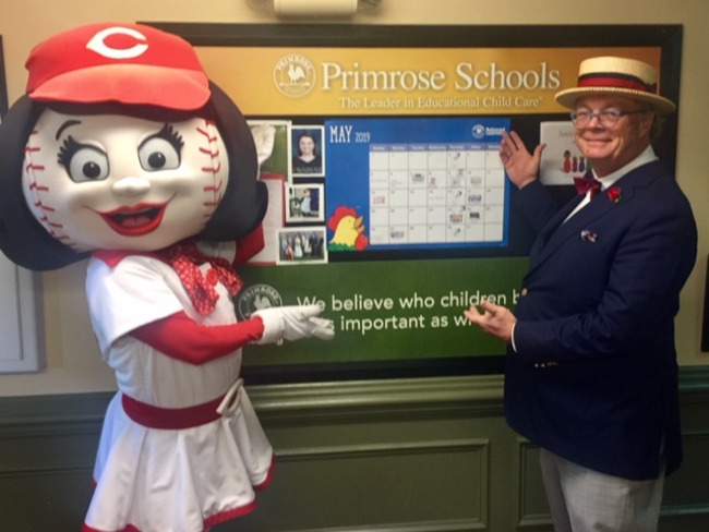 Photo of Roland and Cincinnati Reds mascot