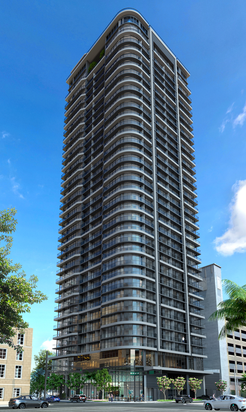 skyview image of 501 First Residences