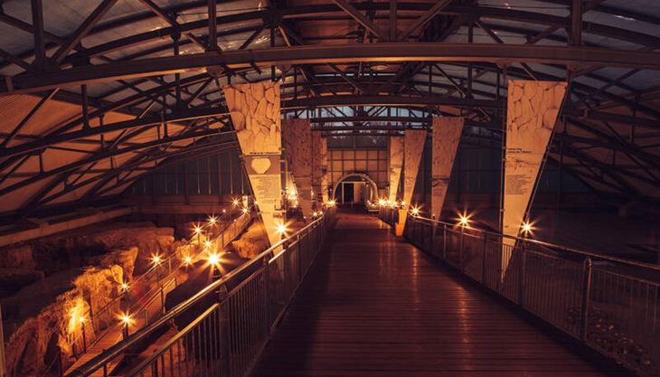 römerbergwerk halle beleuchtet