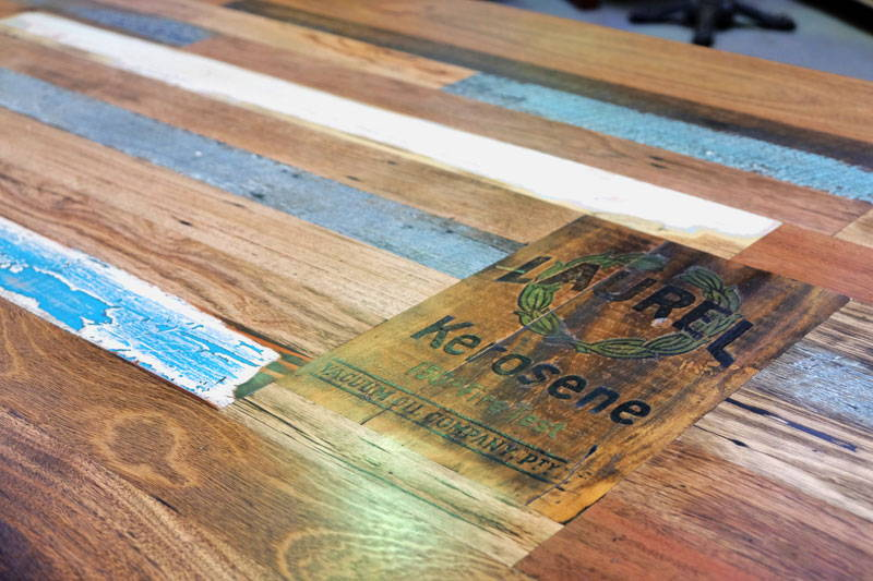 recycled timber board room table