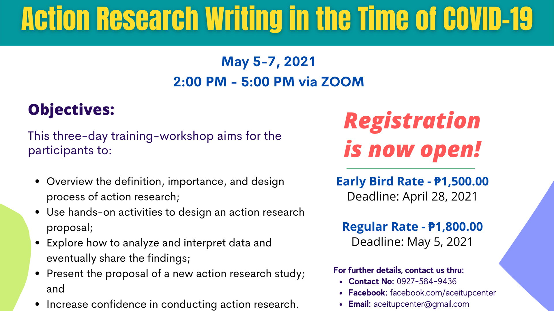 International Training-Workshop on Action Research Writing in the Time of COVID-19