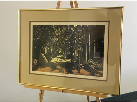 """""""Buttonwood Street"""" serigraph by Luca Sacco and Robert Ehrlich"""