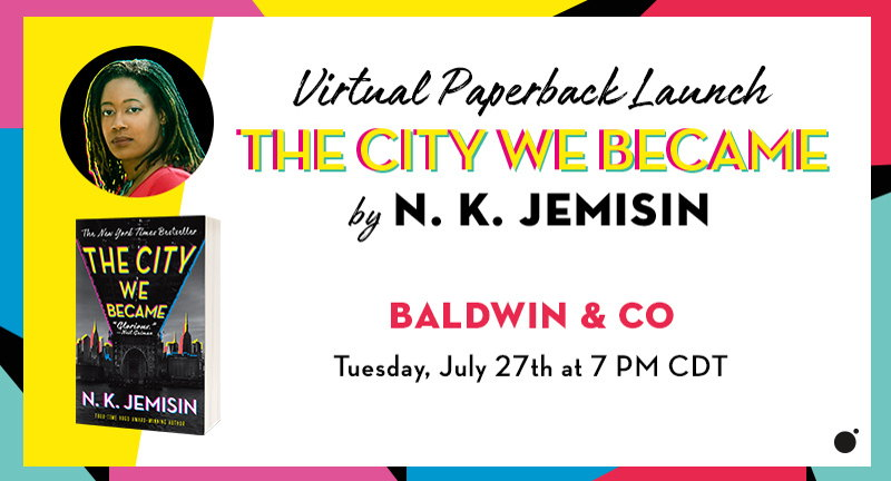 """""""The City We Became"""" virtual book signing"""