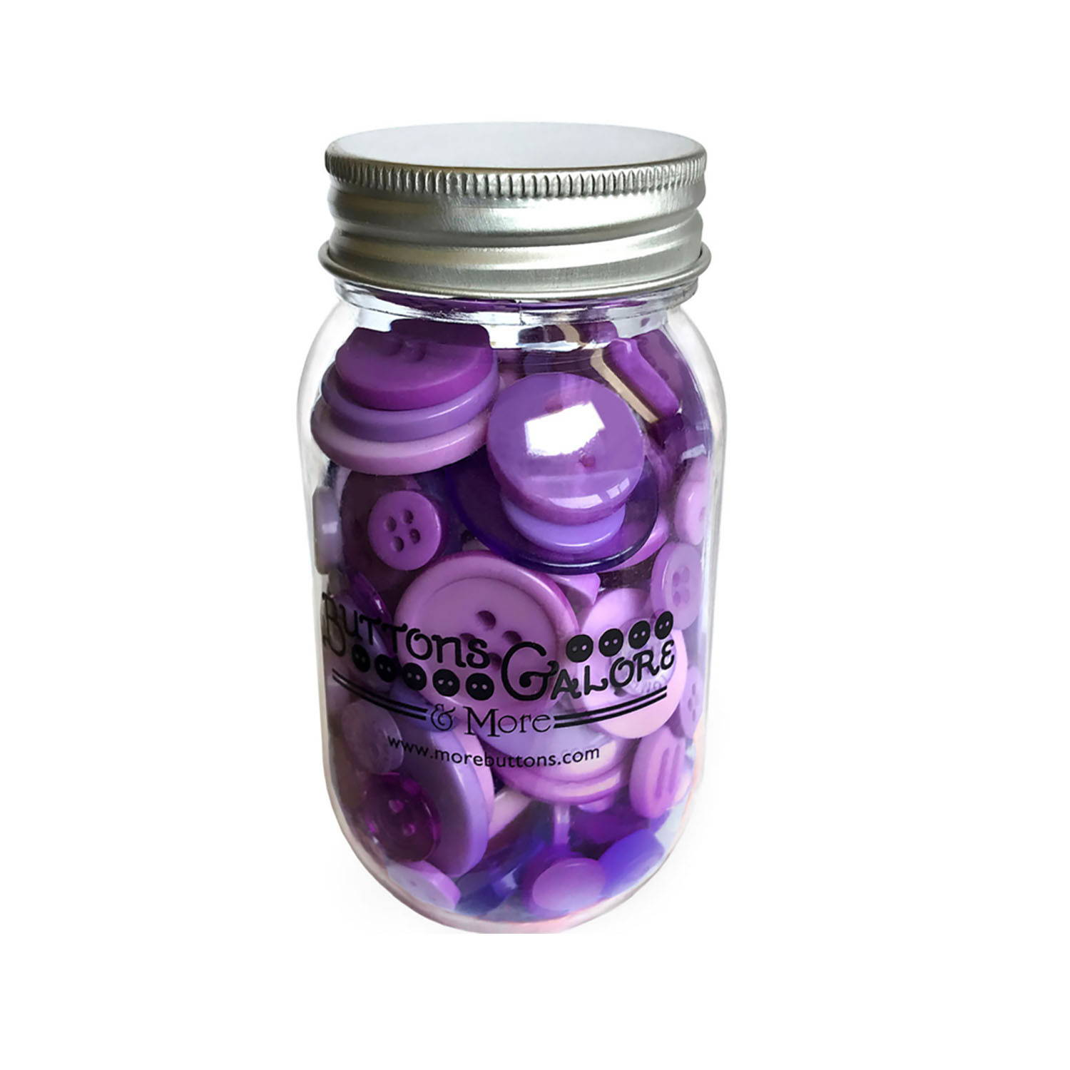 Buy Mason Jar with Novelty Buttons Online