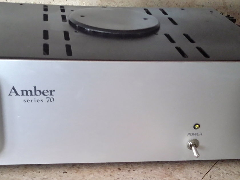 Amber Electronics Series 70 amplifier upgraded to IEC detachable