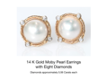 Moby Pearl Earrings with Diamonds