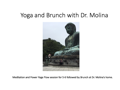 Yoga and Brunch for Five-Six with Dr. Patricia Molina