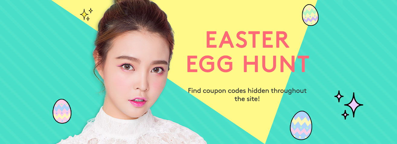 Easter Egg Hunt: Find coupon codes hidden throughout the site!