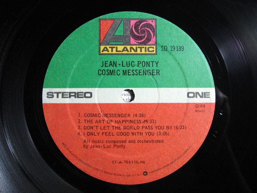 Jean-Luc Ponty - Cosmic Messenger - 1978 STERLING Mastered Atlantic ‎SD 19189