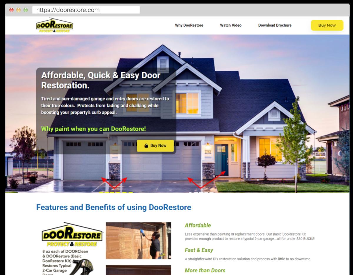 Visit the DooRestore.com website