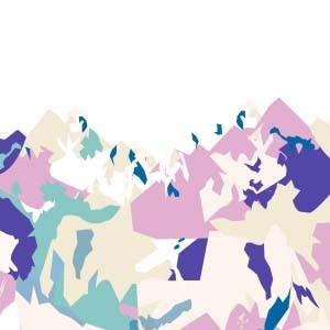 Foulard carré en soie Collection la montagne virginie riou