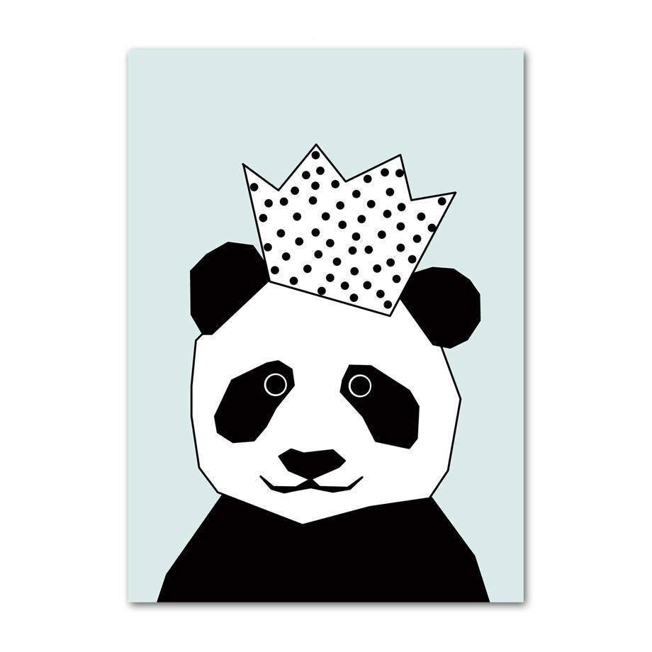 poster roi panda bleu