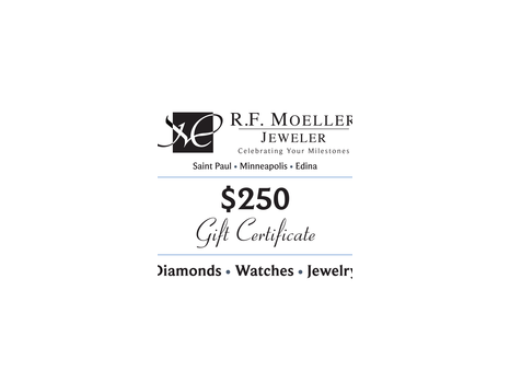 R.F. Moeller Jeweler $250 Gift Certificate