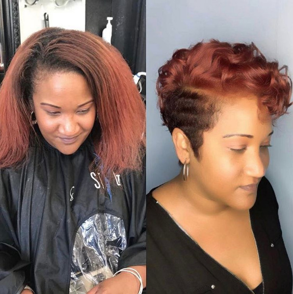 auburn hair color on black women