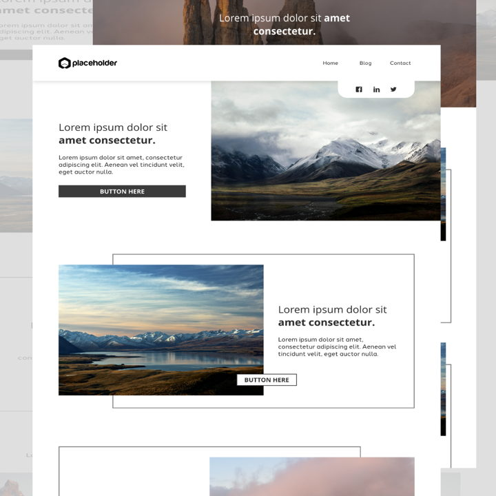 Mountain template's featured image