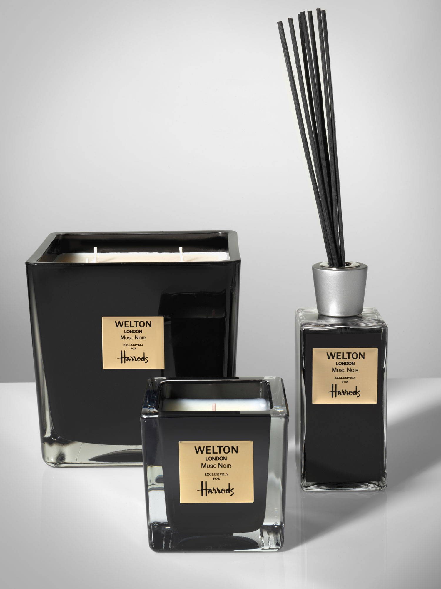 Special Edition Musc Noir exclusively for Harrods by Welton London, scented candles and home fragrance diffusers