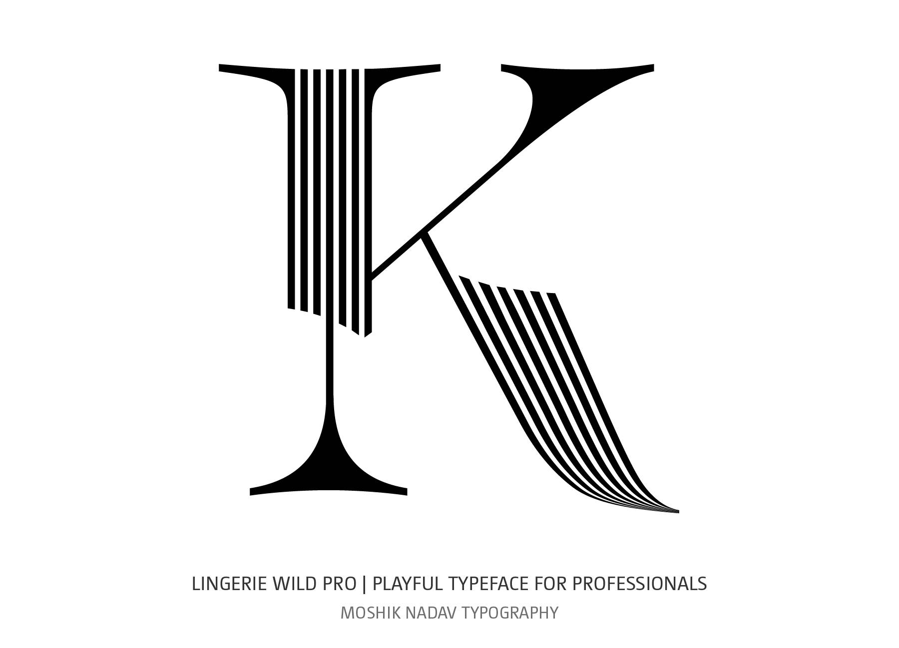 Sexy uppercase K for logos and fashion magazines by Moshik Nadav Typography NYC
