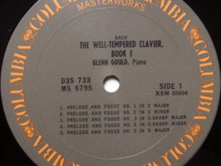 Columbia / GLENN GOULD, - Bach Well-Tempered Clavier Book 1, MINT, 3LP Box Set!