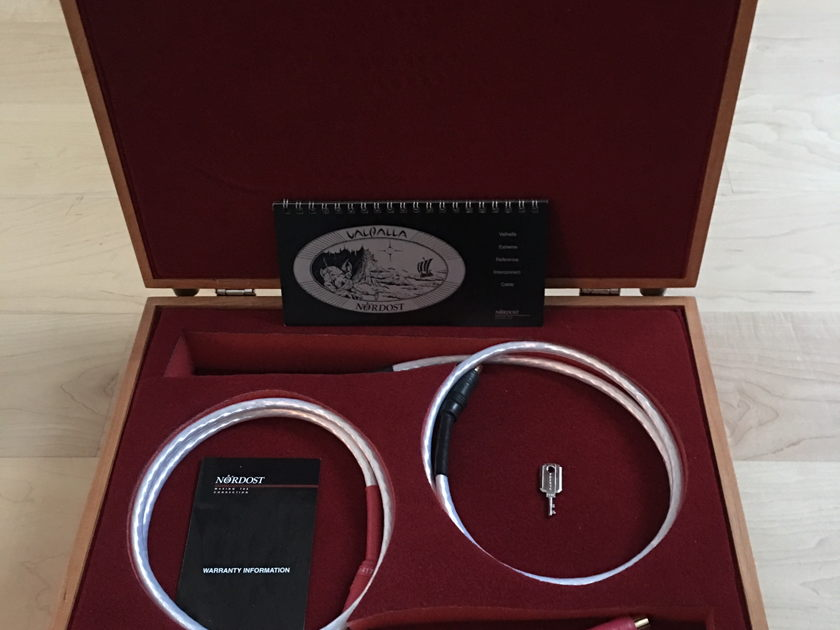 Nordost Valhalla RCA Interconnects 1.0M with Wooden box & key