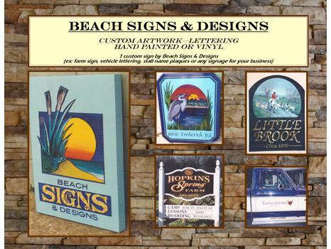 Custom Sign by Beach Signs & Designs