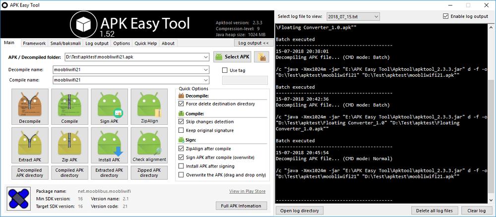 framework for advanced apk tool