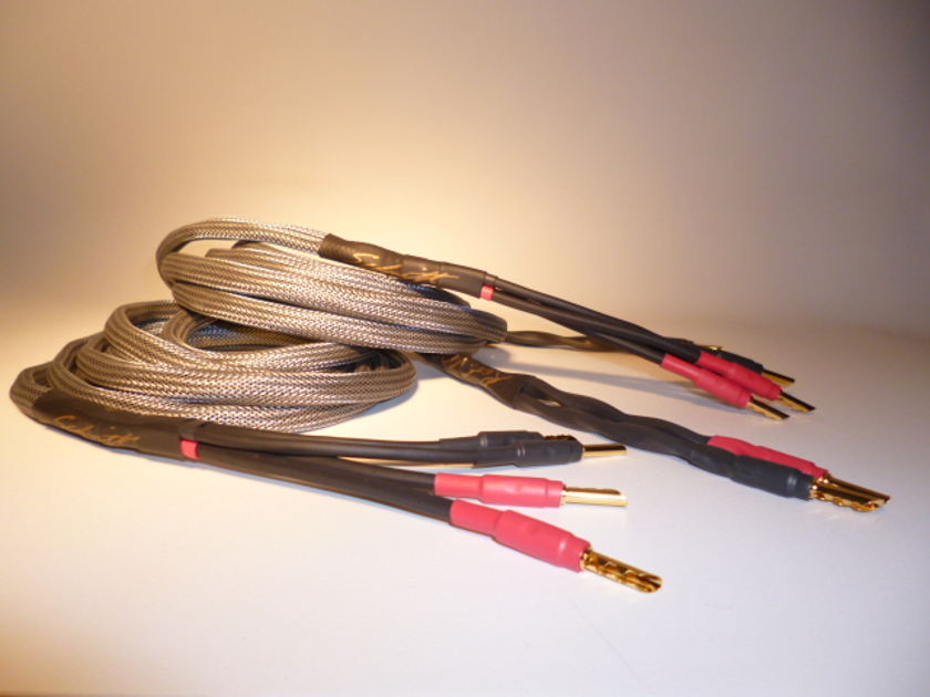 Schmitt Custom Audio Reference 100 4x12 AWG Bi-Wire Speaker Cables 10ft 1pr