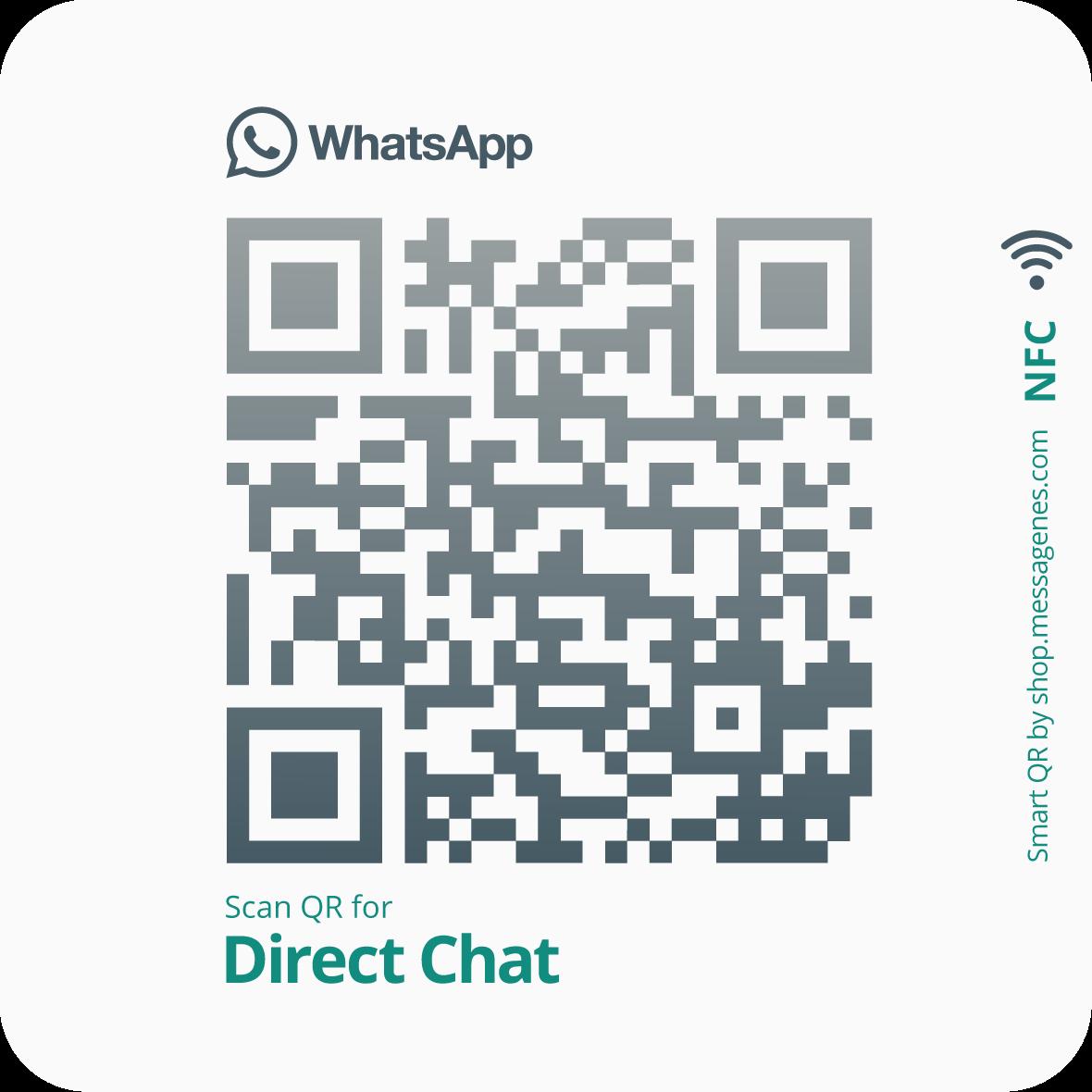 WhatsApp QR and NFC