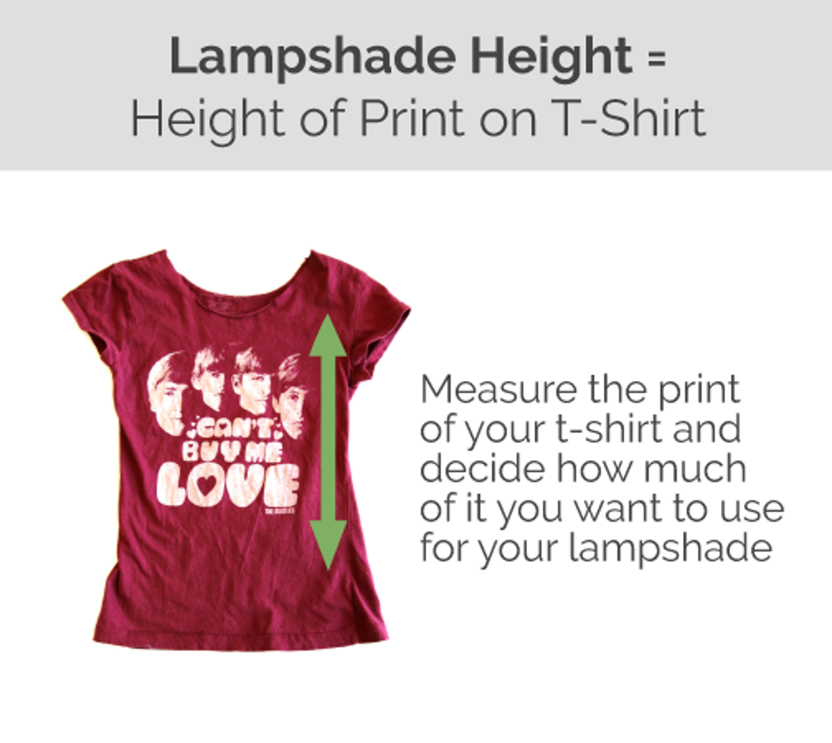 Turn Your Old T-Shirt into a Lampshade with Our DIY Lampshade Kit - Check out more great DIY lamp tutorials at http://www.ilikethatlamp.com !
