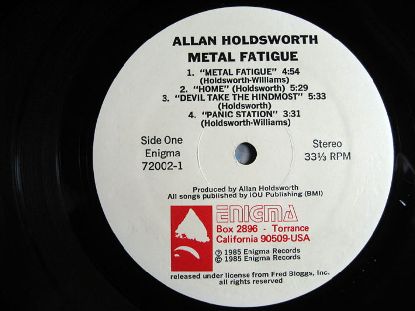 Allan Holdsworth With I.O.U. - Metal Fatigue - US First Pressing 1985 Enigma Records 72002-1