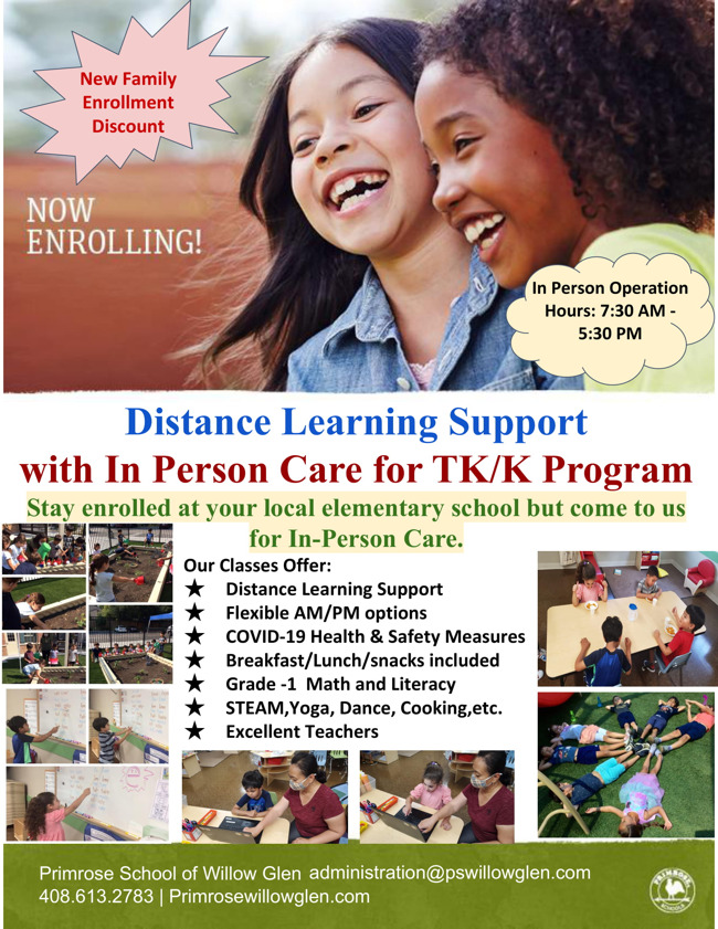 Distance Learning Support with In-Person Care