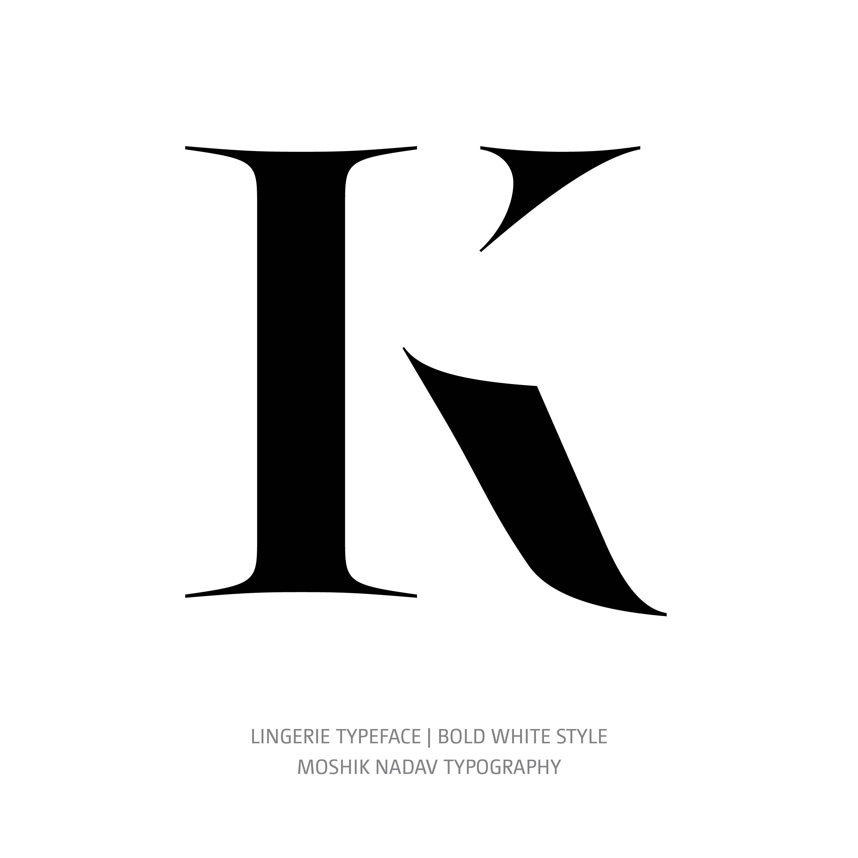 Lingerie Typeface Bold White K