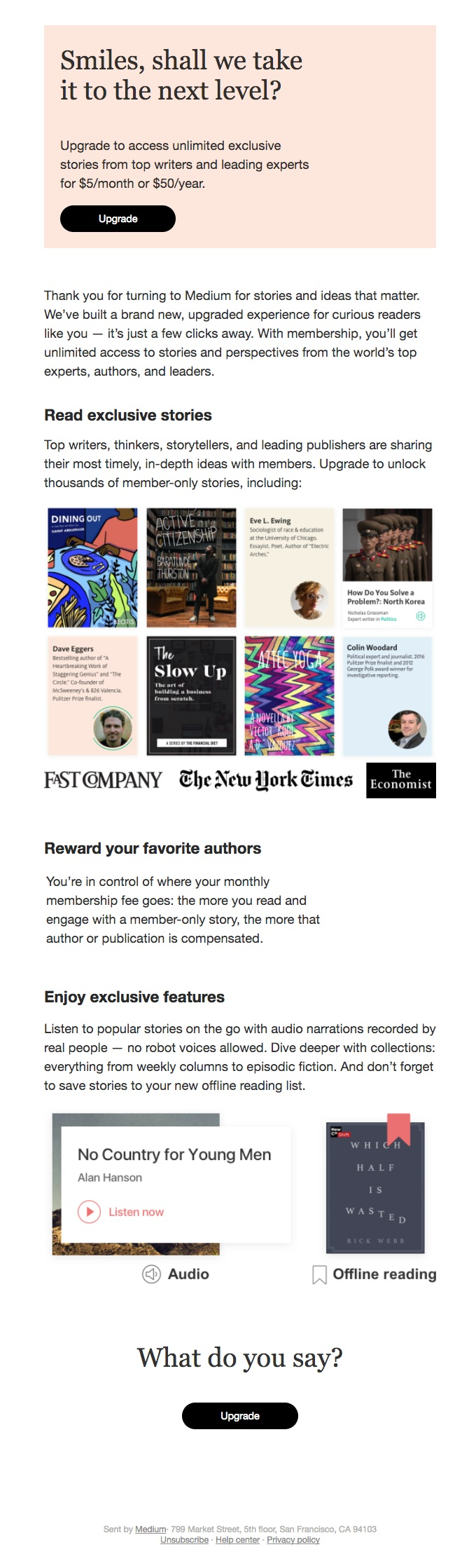 Fast Company offers an opportunity for subscribers to get even more involved.
