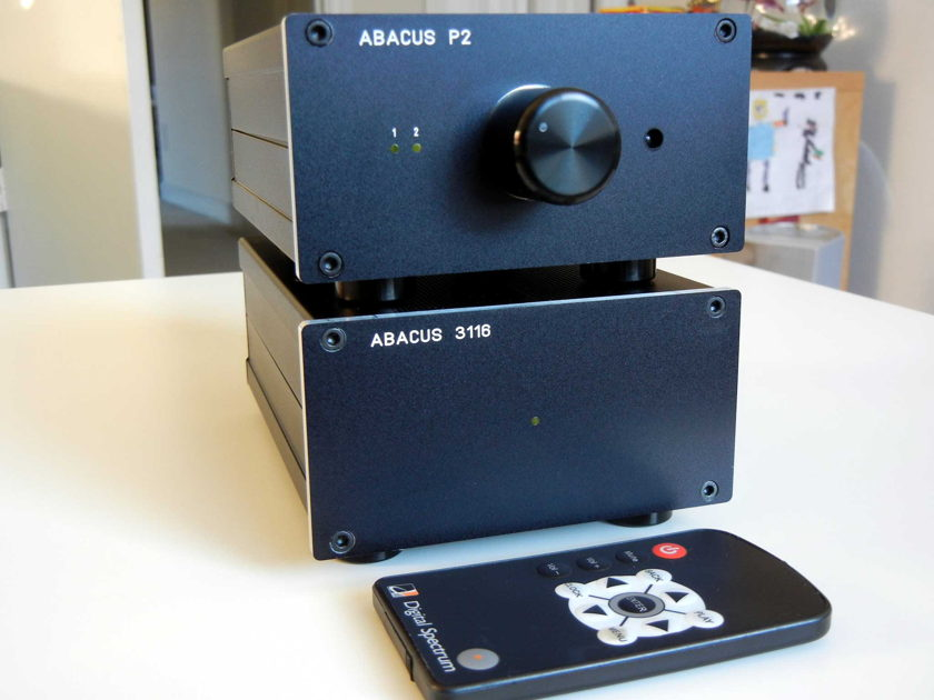 Abacus  P2 Passive Preamplifier with remote