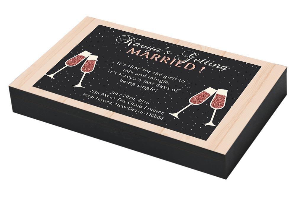 Cocktail party invitation for Bachelorette