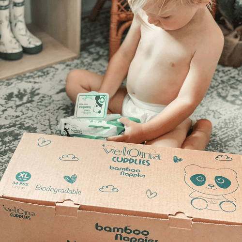 Select the nappy size for your subscription bundle, choose the delivery frequency and your bundle will arrive at your door!